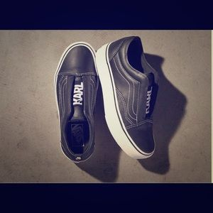 Vanz X Karl Lagerfeld slip on platform sneakers